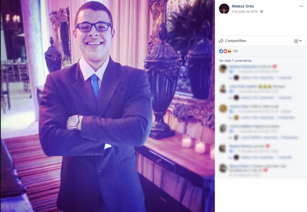 Mateus Ortiz, 19 anos, morreu em acidente na BR-364 (Foto: Facebook/Reprodução)