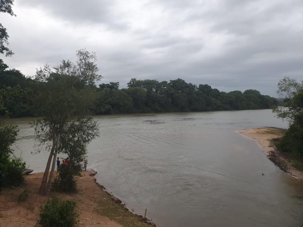 Rio Caiabi em Sinop — Foto: Corpo de Bombeiros de Mato Grosso