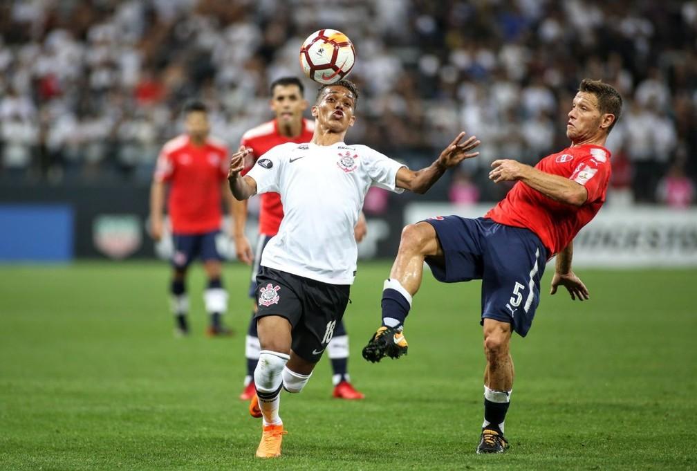Com Pedrinho, Corinthians perdeu para o Independiente em casa — Foto: Rodrigo Coca/Ag. Corinthians