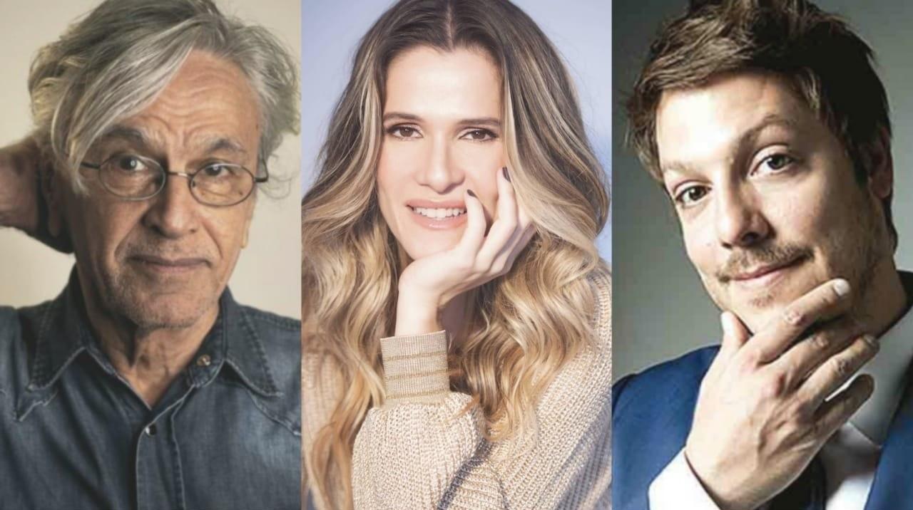 Caetano Veloso, Ingrid Guimarães e Fábio Porchat: união digital contra Arthur Lira