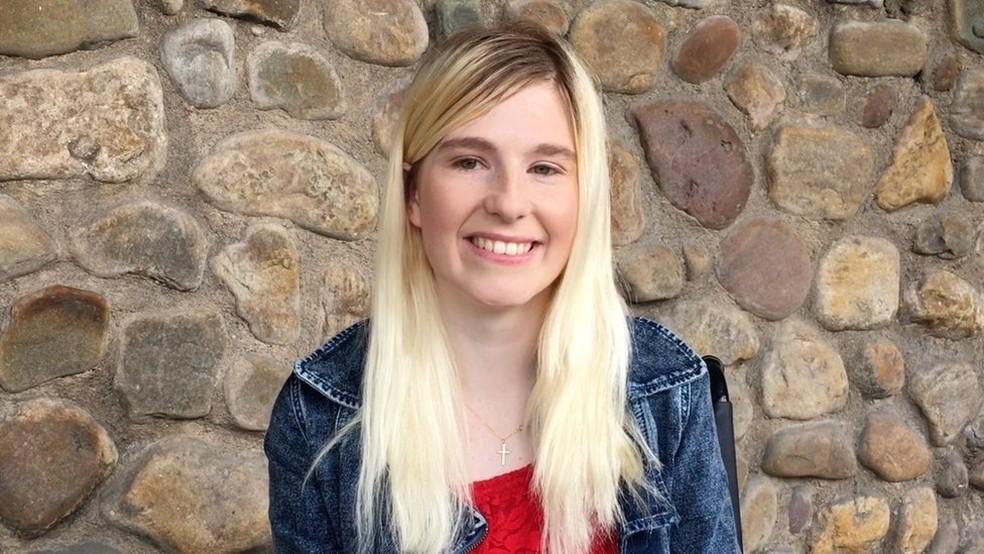 Jade Owen foi aos EUA fazer o tratamento, depois de anos tentando arrecadar doações — Foto: Jade Owen/BBC
