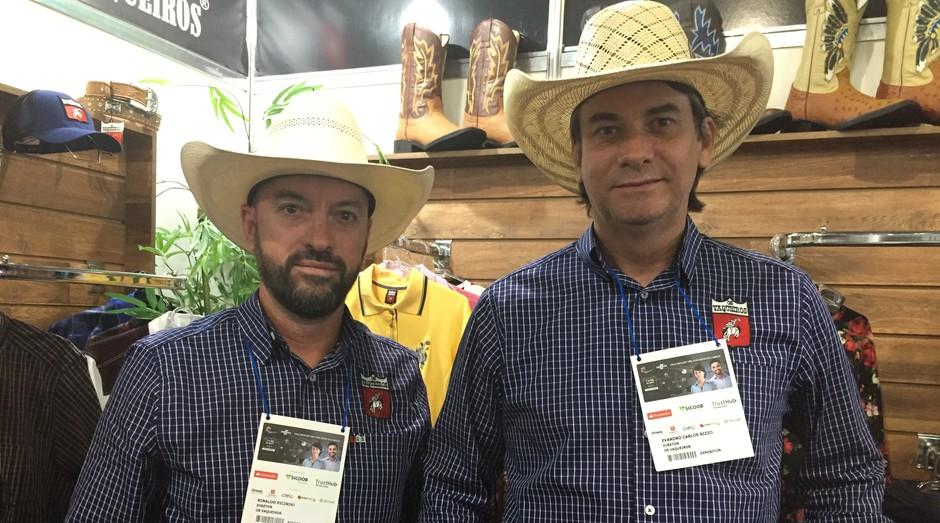 Rinaldo Picinini e Evandro Rizzo, da Os Vaqueiros (Foto: Adriano Lira)