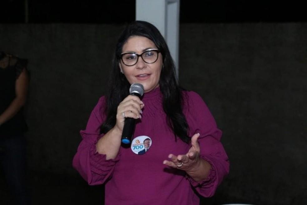 Andreia foi eleita em Jaciara — Foto: Assessoria