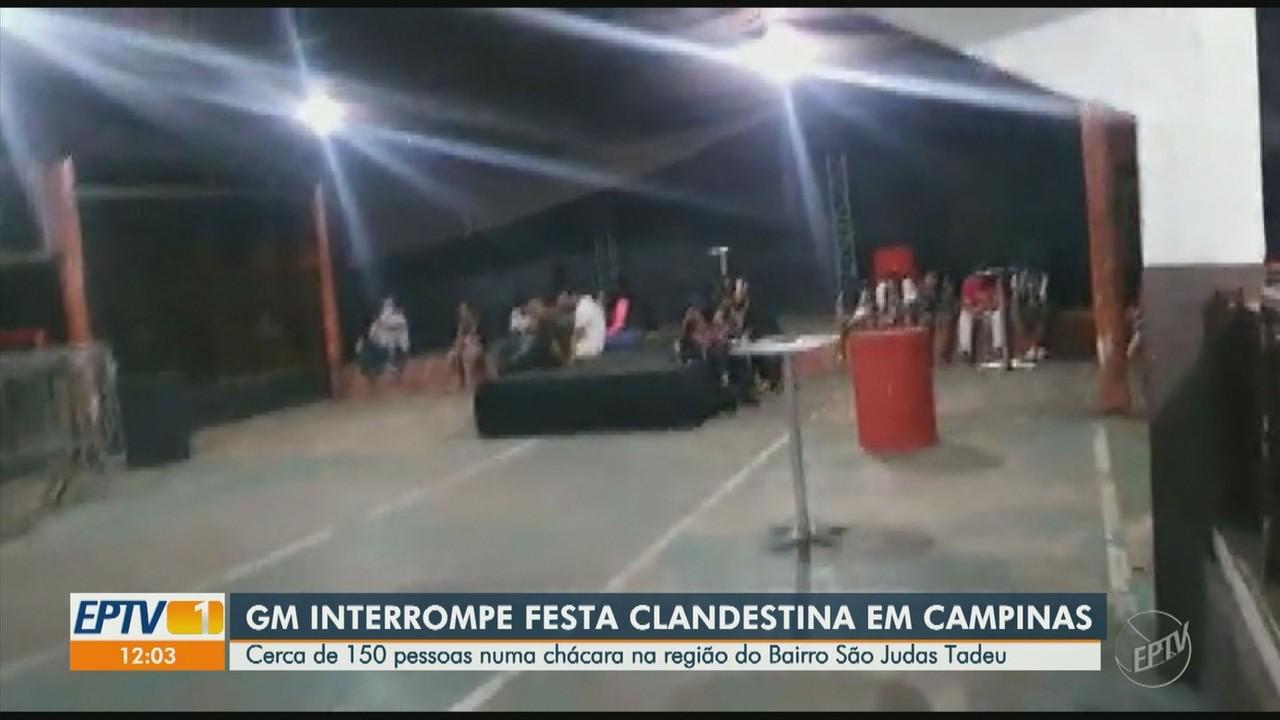 Organizadores de festa clandestina em chácara de Campinas são multados em R$ 6 mil