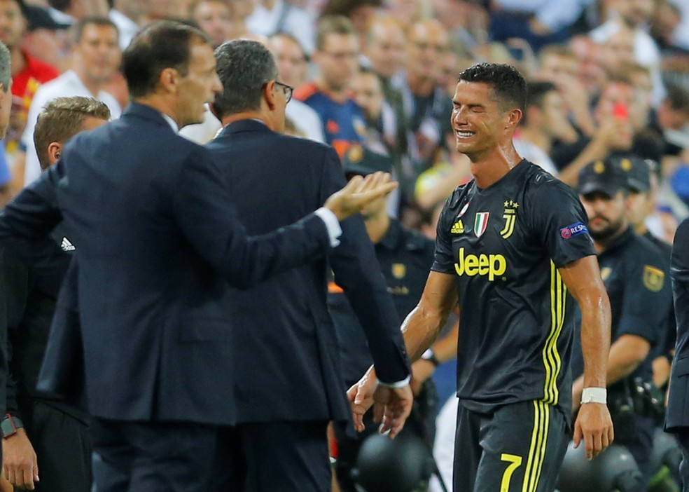 Cristiano Ronaldo Valencia x Juventus — Foto: Heino Kalis/Reuters