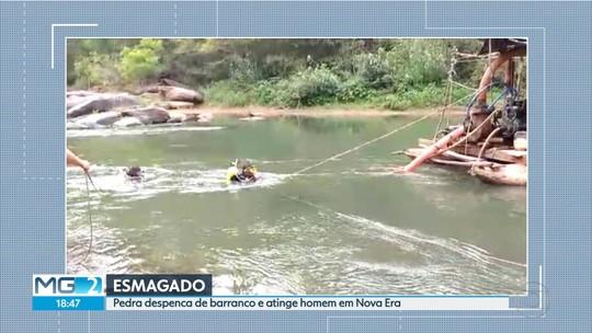 Garimpeiro morre esmagado por pedra de uma tonelada na Região Central de MG