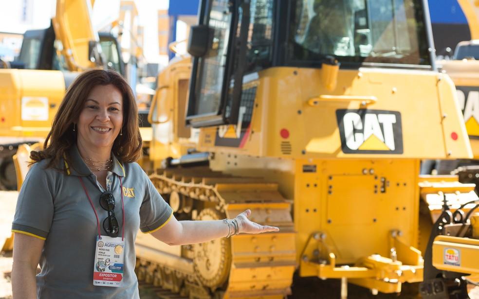 Andrea Park, diretora de assuntos governamentais e corporativos da Caterpillar (Foto: Érico Andrade/G1)