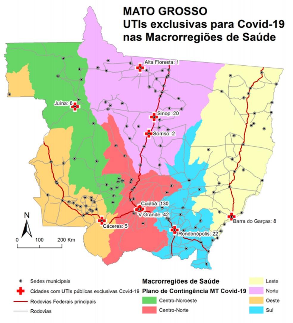 Levantamento mostra situação dos leitos de UTI em MT — Foto: UFMT/Assessoria