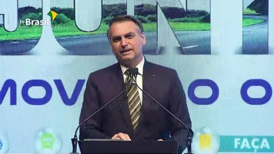 'Temos tudo para ser uma grande nação', afirma Bolsonaro