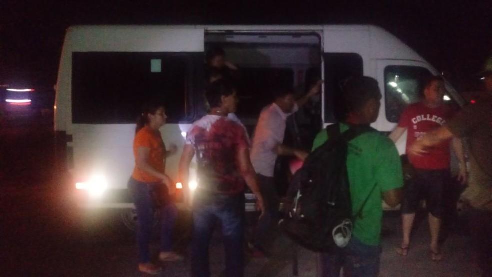 Assalto a van (Foto: Reprodução/TV Liberal)