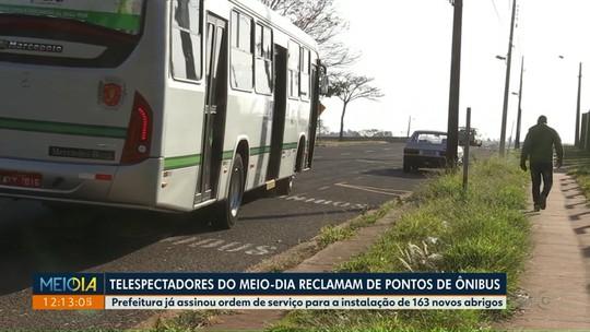 Instalação de novos pontos de ônibus começa mês que vem