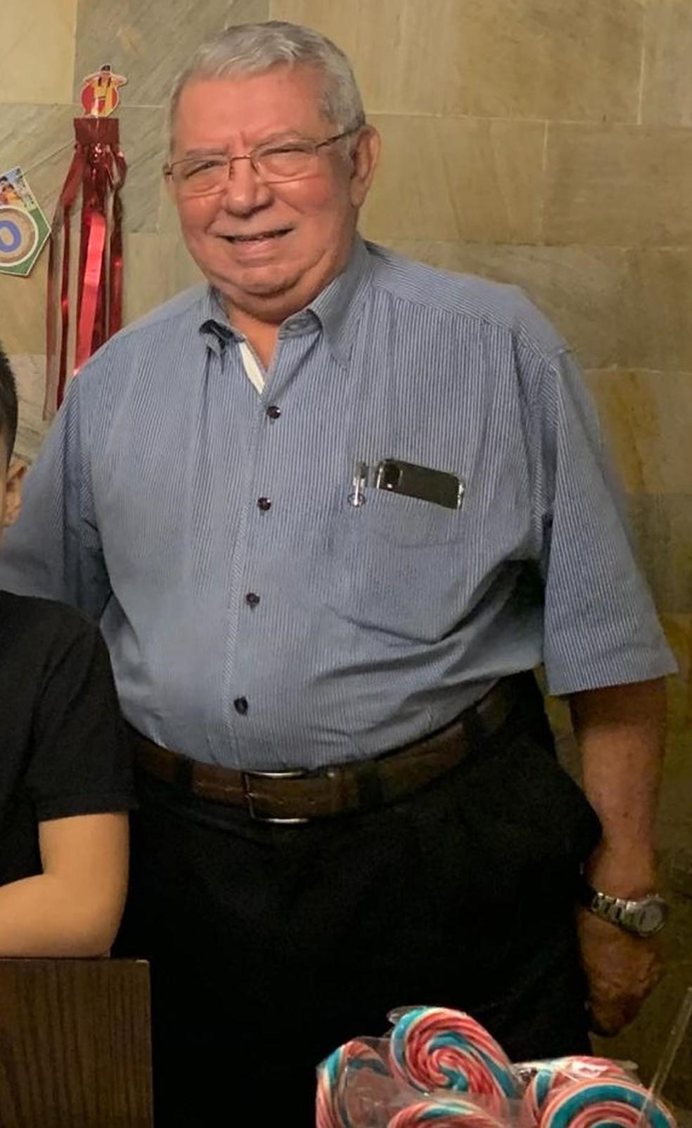 Valdir Faria de Moraes, de 76 anos, lutou conta o vírus por 15 dias, período em que ficou internado na Unidade de Terapia Intensiva (UTI) de um hospital particular de Rondonópolis — Foto: Arquivo pessoal