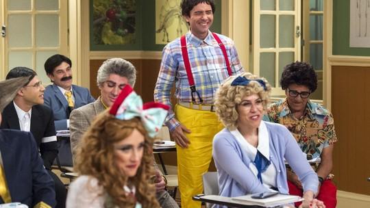 Estreia de nova temporada da 'Escolinha' é comemorada na web