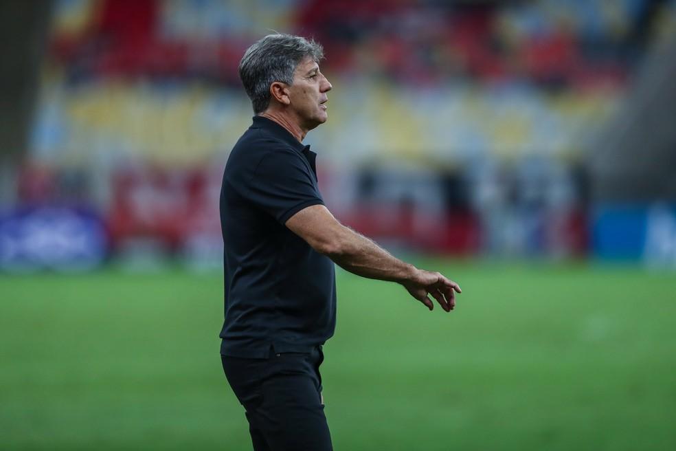Renato Gaúcho em empate do Grêmio no Maracanã — Foto: Lucas Uebel/Grêmio