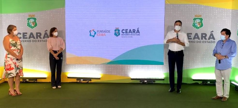 Governador do Ceará, Camilo Santana, lançou na tarde desta quarta-feira (23) o concurso público com 6 mil vagas para a área da saúde. — Foto: Reprodução