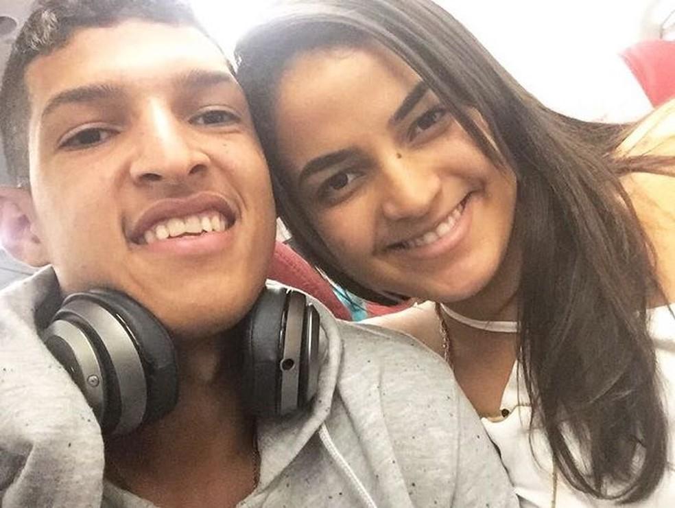 Matheus Matias e namorada Luana em foto desta semana (Foto: Reprodução do Instagram)
