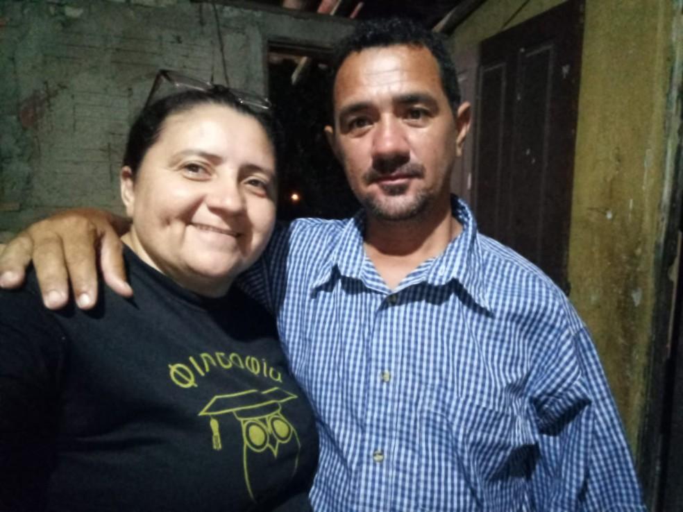 Eliene Xavier e o marido Eudes Cassimiro — Foto: Cedida