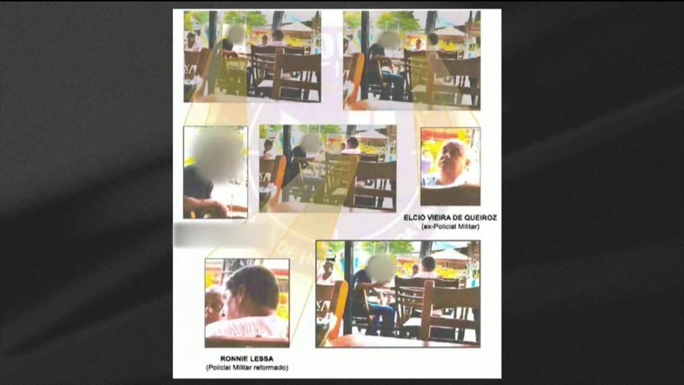 Imagens mostram encontro de Ronnie Lessa e Élcio de Queiroz antes de depoimento — Foto: Reprodução/ GloboNews