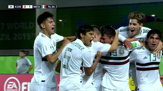 Com gol no fim, México bate a Coreia do Sul e se classifica para as semifinais do Mundial sub-17
