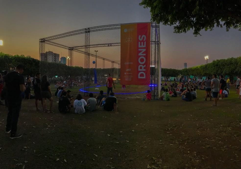 Batalha de drones da Campus Party Rondônia — Foto: Sérgio de Andrade/ CBN