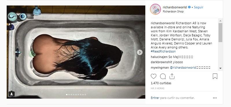 Fãs ficam loucos com ousadas imagens de Kim Kardashian no instagram da revista Richardson (Foto: Reprodução instagram)