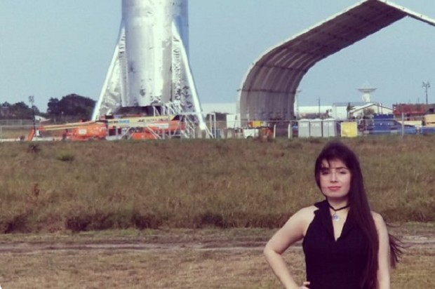 Foto publicada por usuária do Twitter na região onde está o Starship (Foto: Reprodução )