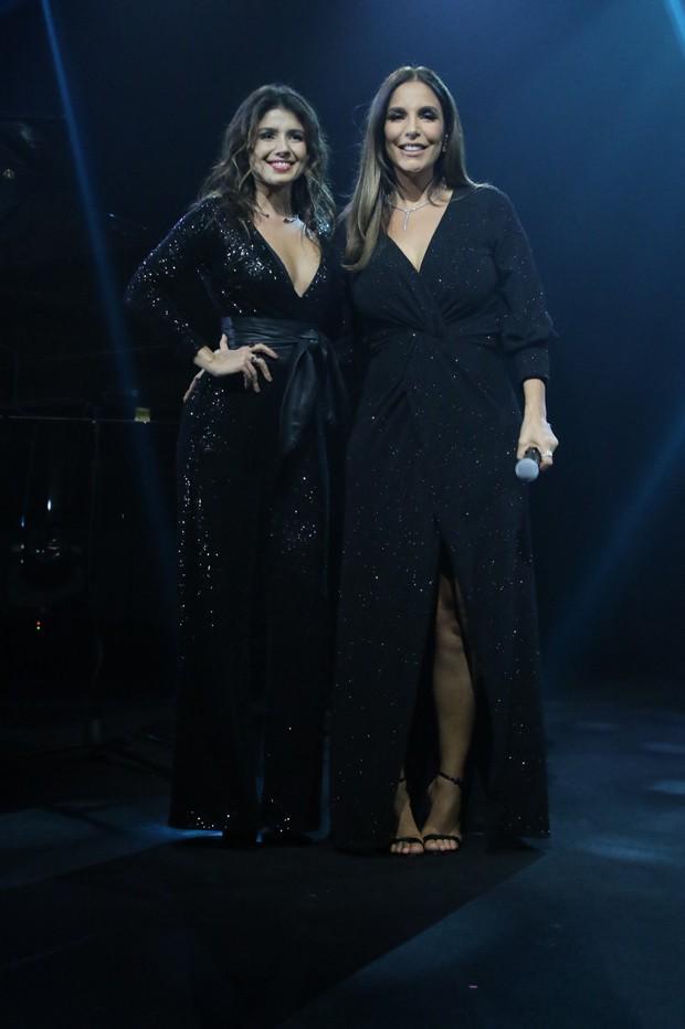 Paula Fernandes e Ivete Sangalo (Foto: Thiago Duran/AgNews)