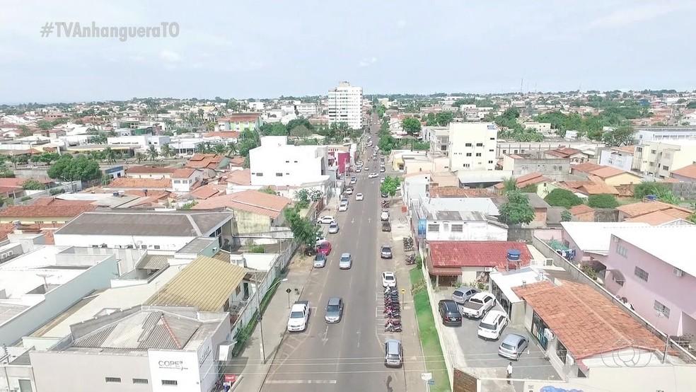 Vista geral de Araguaína, no norte do Tocantins — Foto: Reprodução/TV Anhanguera