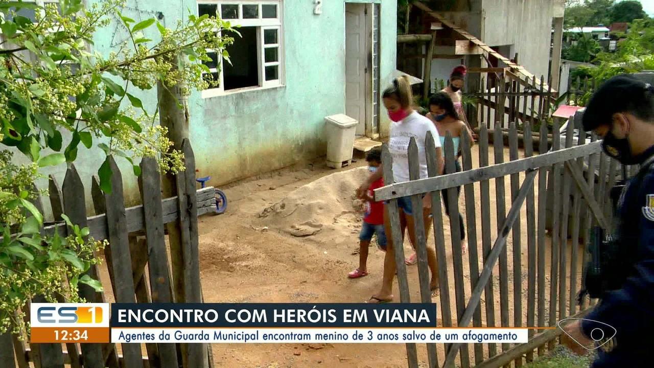 Guardas de Viana, ES, resgataram menino de três anos de afogamento