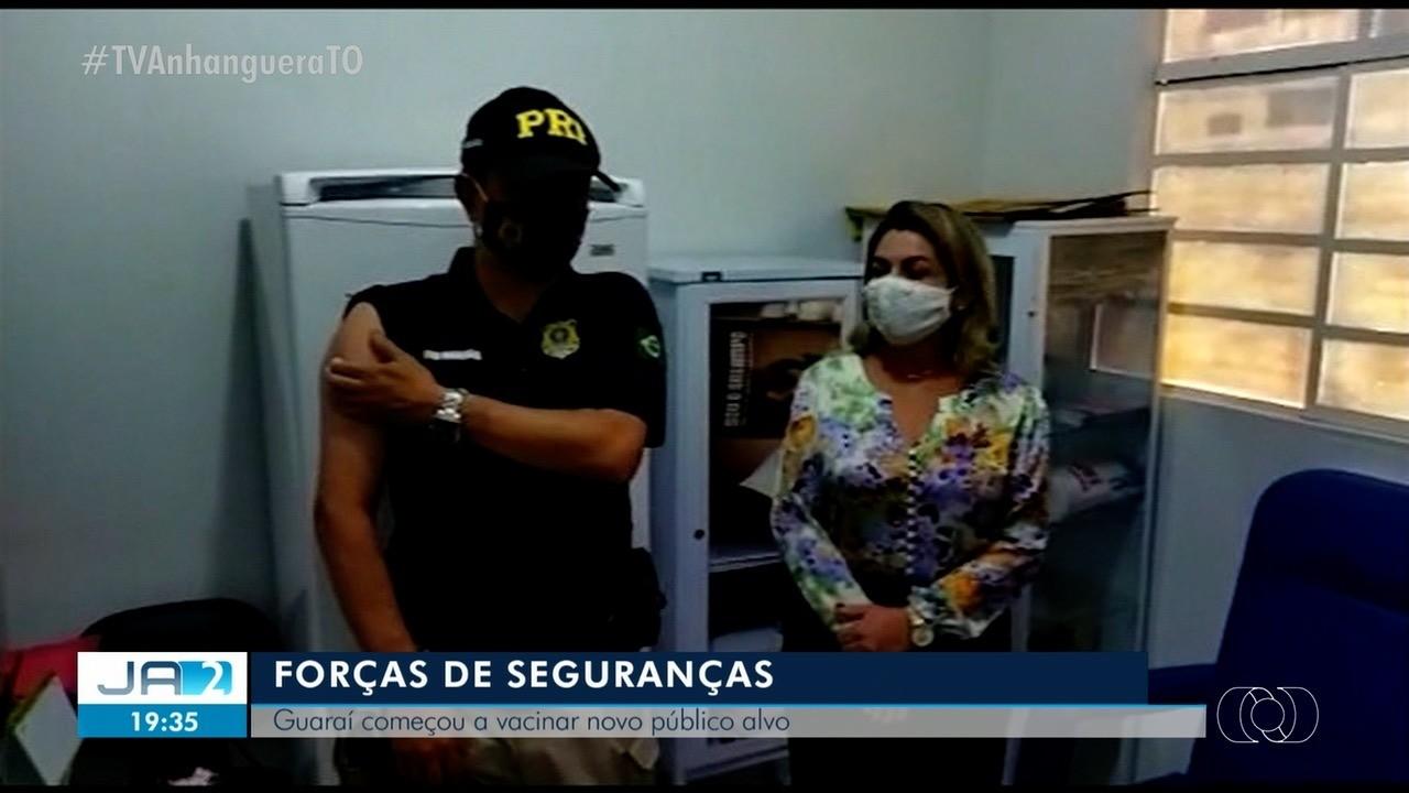 Guaraí começa a vacinar forças de segurnças