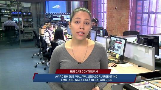 Em Londres, Helena Rebello traz mais informações sobre o avião que transportava Emiliano Sala