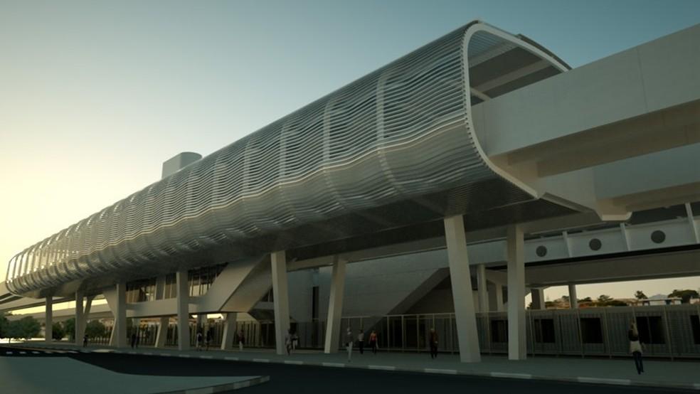 Estação Parangaba do VLT (Foto: Seinfra/Divulgação)