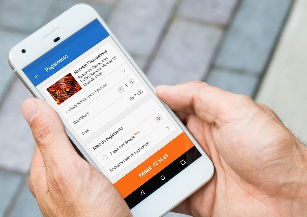 Pagar com Google, ferramenta de pagamentos de compras em sites e aplicativos, chega ao Brasil nesta segunda (23) (Foto: Divulgação)