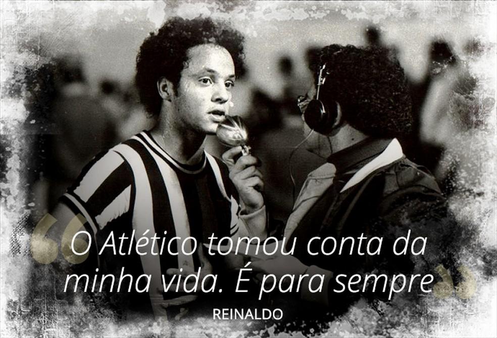 Reinaldo, ídolo do Atlético-MG, traduziu a importância do clube em sua vida — Foto: InfoEsporte/GloboEsporte.com