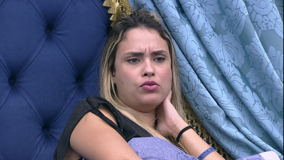 Sarah diz sobre sister do BBB21: 'Tomei ranço e não quero nem mais entender o lado dela' — Foto: Globo