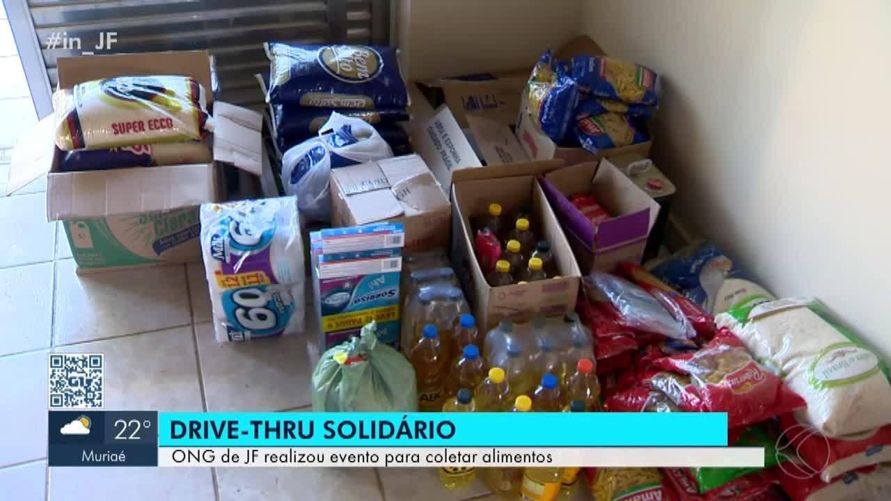 ONG em Juiz de Fora arrecada alimentos em formato drive-thru