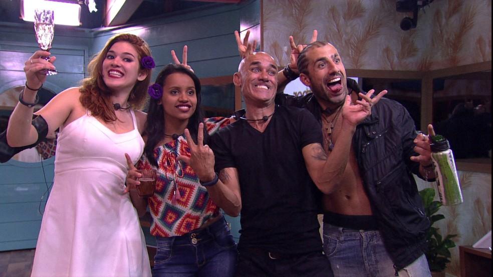 Ana Clara, Gleici, Ayrton, Kaysar, BBB18, big brother brasil — Foto: Reprodução/TV Globo