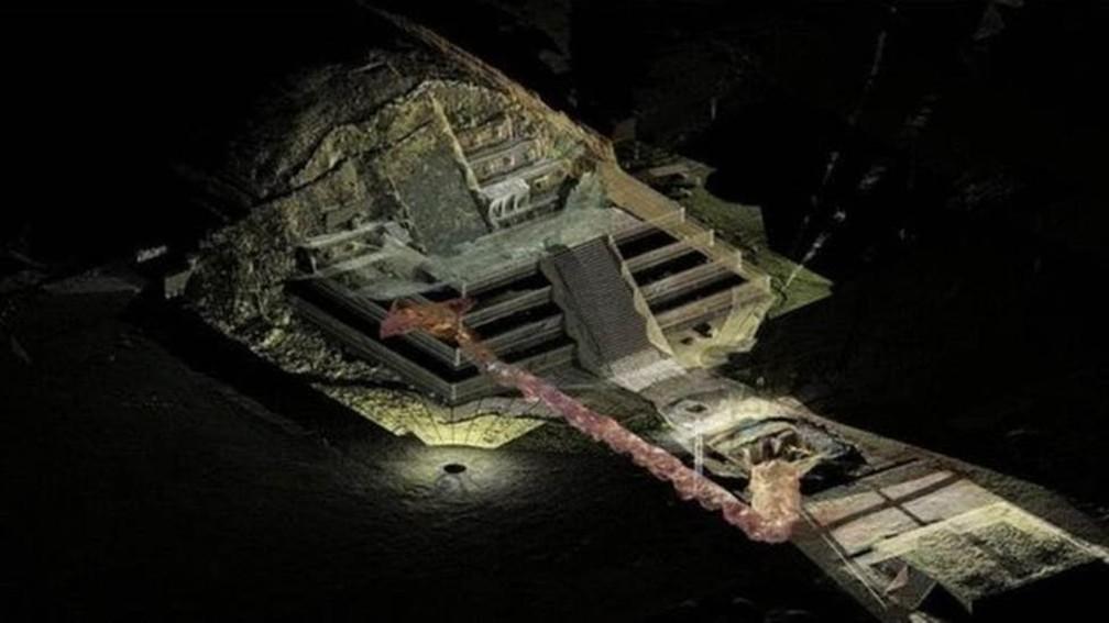 -  Especialistas dizem que túnel descoberto sob as pirâmides de Teotihuacán nunca será aberto ao público.  Foto: Sergio Gomez/Tlalocan