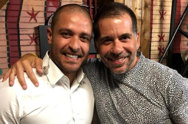 Diogo Nogueira e Leandro Hassum (Foto: Arquivo pessoal)