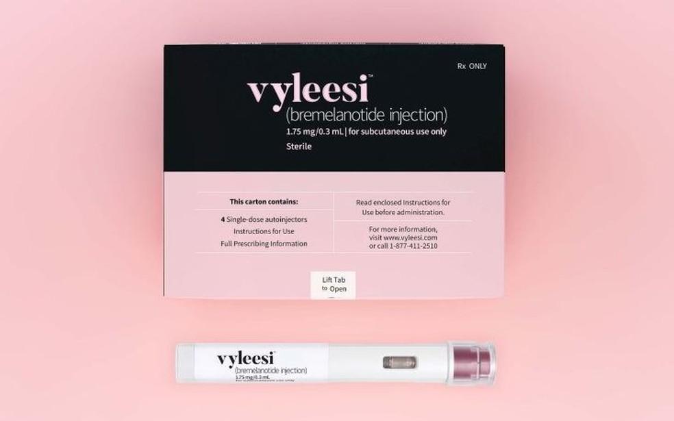Remédio Vyleesi foi aprovado nos Estados Unidos para tratamento de mulheres com perda do desejo sexual — Foto: Divulgação