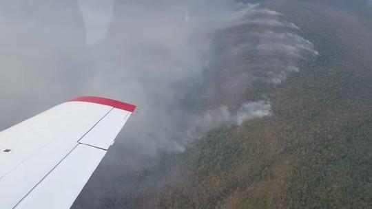 Incêndio atinge Parque Serra de Ricardo Franco (MT) e destrói 5 mil hectares
