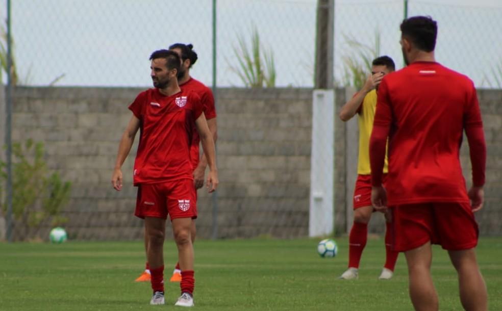 Rafael Longuine é o artilheiro do CRB na temporada — Foto: Mac Cavalcante / GloboEsporte.com