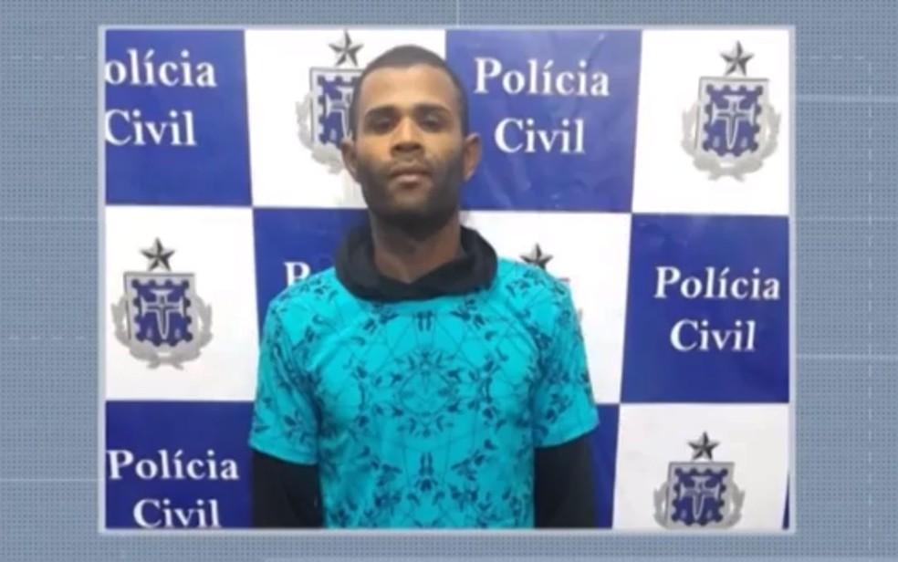 Admilson Gomes dos Santos é apontado por espancar ex-companheira em Ilhéus, no sul da Bahia — Foto: Reprodução/TV Bahia