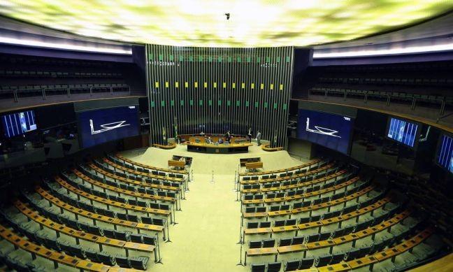 O plenário vazio da Câmara dos Deputados (Foto: Jorge William / O Globo)
