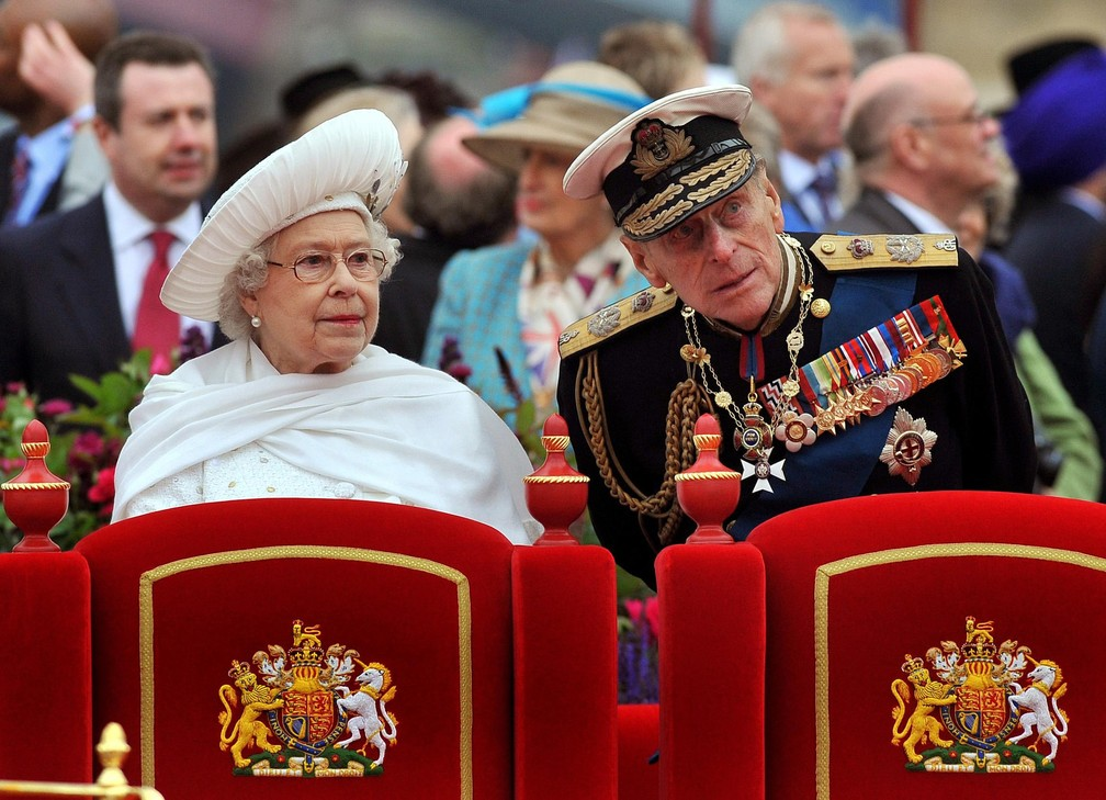 Rainha Elizabeth II e príncipe Philip — Foto: John Stillwell/AP/Arquivo