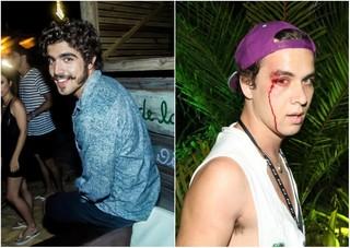 Caio Castro e o fotógrafo André Ligeiro (Foto: Divulgação/Charles Naseh e Divulgação/Ali Karakas)