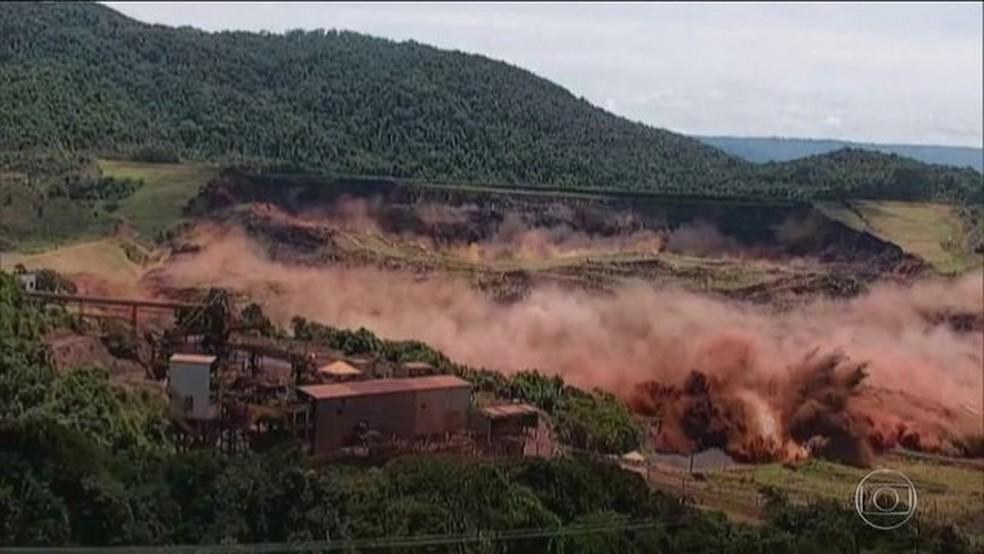 Desastre com barragem em Brumadinho impactou resultado da indústria extrativa no começo de 2019 — Foto: Reprodução/JN