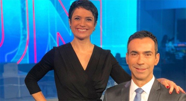 César Tralli e Sandra Annenberg  (Foto: Reprodução/Instagram)