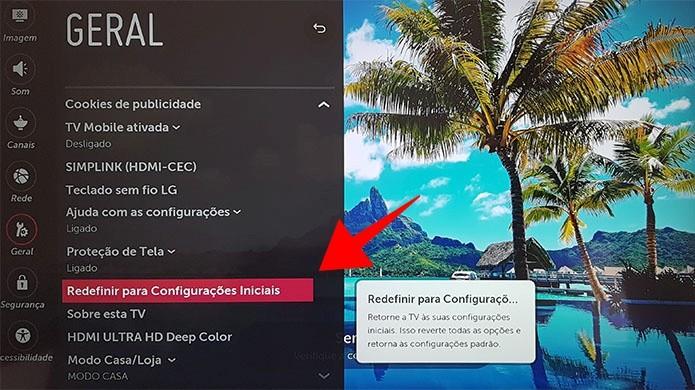 Como resetar a smart TV da LG e restaurar as configurações