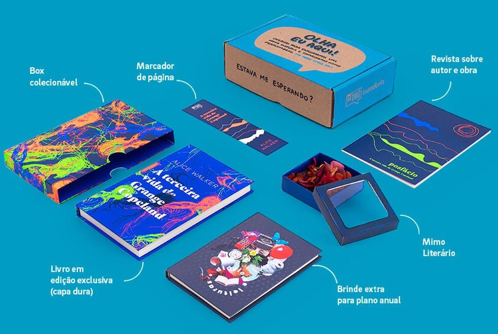 TAG Livros entrega kits literários exclusivos para os assinantes — Foto: Divulgação/TAG Livros